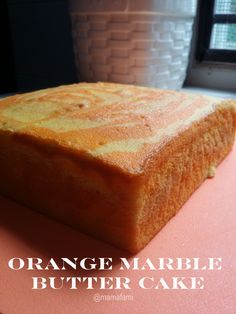 MamaFaMi's Spice n Splendour: Orange Marbled Butter Cake Orange Butter Cake Recipe, Yellow Butter Cake, Butter Cakes, Sponge Cake Recipes, Easy Cake Recipes, Baking Recipes, Cake Receipe, Kentucky Butter Cake, Almond Cakes