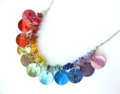 Rainbow necklace- natural jewelry - Gypsy Necklace, Rainbow | Shop accessories,luxury, fashion | Kaboodle