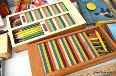 coleção antigo estojo escolar