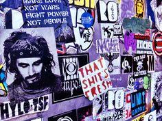 Street Art sticker collage