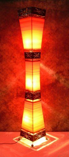 Asian floor lamps on lamps asian lamps japanese lamps floor lamps asian floor lamp tiga orange la22 10or designer bali light aloadofball Images