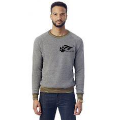 FTLA Apparel Hounds and Heroes Unisex/Men's Eco Fleece Eco Grey & Camo Crew Neck Sweatshirt