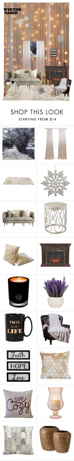 """""""winter cabin ;)"""" by lamija2015 ❤ liked on Polyvore featuring interior, interiors, interior design, home, home decor, interior decorating, Astoria, EB Florals, Kate Spade and New View"""