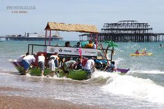 A whole floating beach bar! Paddle Something Unusual at Paddle Round The Pier