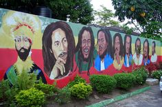 Statue at the #BobMarley Museum Kingston Jamaica 🇯🇲 #OneLove ❤️