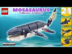 Deep Sea Creatures, Lego Creator, Lego Models, Lego Moc, Diy Toys, Prehistoric, Legos, Marketing, Digital