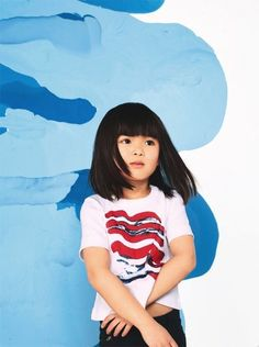 Petit Bateau and Satu Maaranen Collaboration Childrens Clothes Kids Collection Amusement Enfants, Kids Cuts, Asian Kids, Trendy Kids, Modern Kids, Girl Haircuts, Toddler Hairstyles, Little Fashionista, Kids Wear