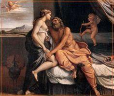 És la deessa de la bellesa entesa com a desig, esposa infidel, amant capritxosa, burladora de déus i homes i, sobretot, seductora. És filla d'Urà, resultat de l'escuma que va sorgir del que un dia foren atributs virils d'aquest déu, després de l'amputació soferta a mans del seu fill Cronos. Encara un altre mite considera que va néixer dels amors de Zeus i Dione, la nimfa filla d'Urà i Gea.