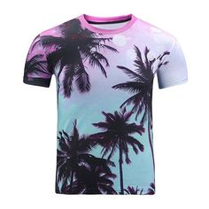 3D Ombre Trees Print Round Neck Short Sleeve T Shirt For Men (33 BAM) ❤ liked on Polyvore featuring men's fashion, men's clothing, men's shirts, men's t-shirts, mens leopard print t shirt, mens patterned shirts, mens short sleeve t shirts, mens ombre shirt and mens short sleeve shirts