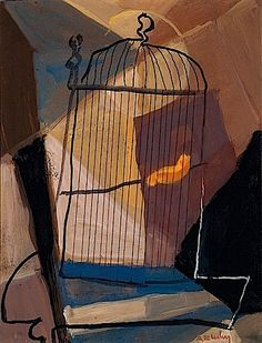 La Cage, ca 1950, Marc Sterling. French (1895 - 1976)