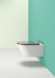 Personaliza tu baño eligiendo un acabado plata para tu inodoro! Elige entre cuatro diferentes colores, disponibles en brillo o mate. #catalano  #green #baño #madeitaly #inardi