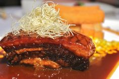 Braised Spanish pork belly in kimchi gravy at 2-star Sun Tung Lok in Hong Kong