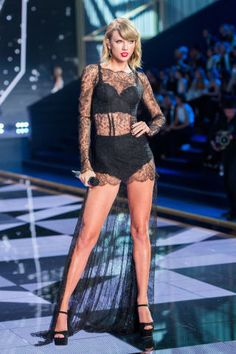 19 celebrities who have walked the catwalk: Taylor Swift for Victoria's Secret Fashion Show, 2014.