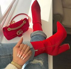 25 Absolutely Gorgeous Heels For Women That Are Stunningly Stylish - Style O Check High Heel Boots, Heeled Boots, Bootie Boots, Shoe Boots, High Heels, Shoes Heels, Ego Shoes, Ankle Boots, Red Booties