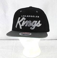b2e1598fbb6 LA Kings Black Gray Baseball Cap Snapback