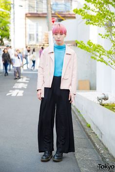 Harajuku Guy w/ Pink Leather Jacket