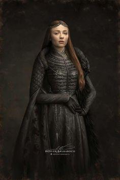 Digital painting of Sophie Turner as Sansa of Game of Thrones. Sansa Stark, Eddard Stark, Game Of Thrones Facts, Game Of Thrones Funny, Sophie Turner, Familia Stark, Game Of Thones, Got Memes, Fanart