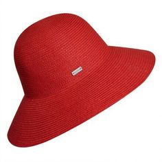 f0c218ec9f7c7 Gossamer Wide Brim Hat by Betmar in True Red