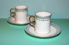 Antique Adderleys Porcelain Pair of Demitasse cup and by NAttic #vogueteam #antiqueporcelaindemitasse