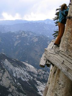 Mountain hike, Mt. Huashan, China. Let's do it! http://www.youtube.com/watch?v=72rN5zO2T7A