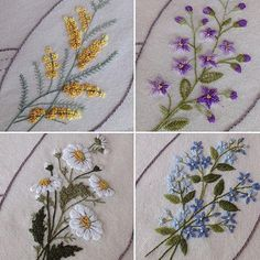 Getting to Know Brazilian Embroidery - Embroidery Patterns Diy Embroidery Patterns, Border Embroidery Designs, Hand Embroidery Projects, Embroidery On Clothes, Hand Embroidery Stitches, Free Machine Embroidery Designs, Embroidery Fashion, Ribbon Embroidery, Cross Stitch Embroidery