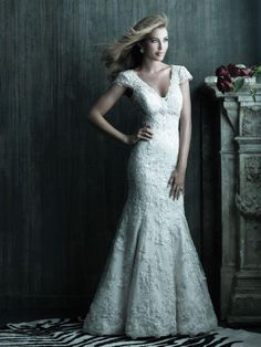 Spring 2013 Wedding Gowns by Allure - modern and updated classic lace look for winter bride