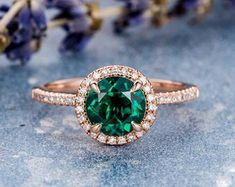 HANDMADE RINGS & BRIDAL SETS by MoissaniteRings on Etsy Green Engagement Rings, Bridal Ring Sets, Handmade Rings, Emerald, Sapphire, Gemstone Rings, Trending Outfits, Etsy Seller, Unique Jewelry
