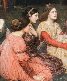 ∴ Trios ∴ the three graces, sisters, triplets & groups of 3 in art and vintage photos - John William Waterhouse | The Decameron