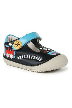 Baby Shoes with cute train design.