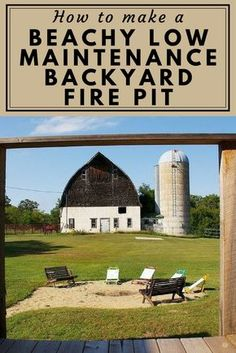 How to Make a Beachy Low Maintenance Backyard Fire Pit