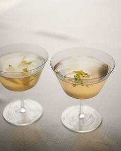 Celery French 75 Cocktails Recipe