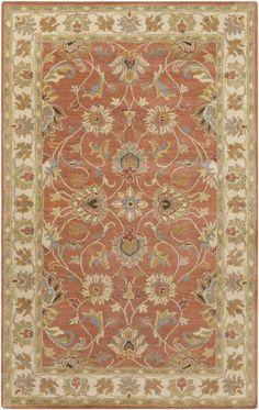 Surya CAE-1124 Caesar Hand Tufted Wool Rug Orange