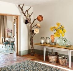 Decoration With Recycled Logs 8
