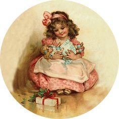 » Blog Archive » Круглые винтажные новогодние картинки для декупажа 4.