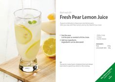 #Kuvings #Refresh #Juice #Recipe - Fresh Pear #Lemon Juice with Whole Slow #Juicer #CS600