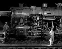 """The Last Steam Trains"" 1950s by O. Winston Link    Nostalgiqa onto • Old Days in Black & White •"
