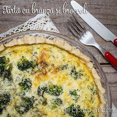 Din bucătăria mea: Tarta cu branza si broccoli Mozzarella, Cheddar, Quiche, Broccoli, Food And Drink, Breakfast, Pie, Morning Coffee, Cheddar Cheese