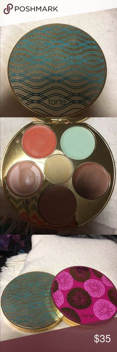 Tarte wipeout color-correcting palette Authentic!!! I bought from the tarte website. Used once or twice. I also have the kiss & blush palette for sale. Makeup