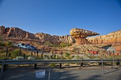 Radiator Springs Racers on the track at Cars Land