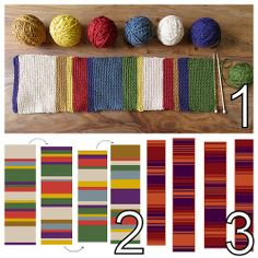 DIY Knit Authentic Doctor Who Scarves from Various Seasons. You can find scarf patterns/colors for Doctor Who Seasons 12, 12.5, 13, 14, 15, ...