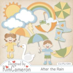 After the Rain [kimcameron] : CU Digitals, Commercial Use / CU Digital Scrapbooking elements, templates, overlays, actions, scripts and tools