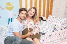 Rafael Cardoso e Mariana Bridi abrem as portas dos quartos dos filhos