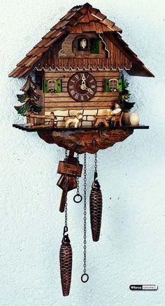 Cuckoo Clock Quartz-movement Chalet-Style 29cm by Anton Schneider - Q1104/9