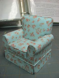 How to make & upholster a mini chair - so realistic. Dollhouse Miniature Furniture. Amazing Step by Step Tutorial!