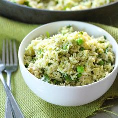 Avocado, lime and cilantro rice #food #yummy #delicious