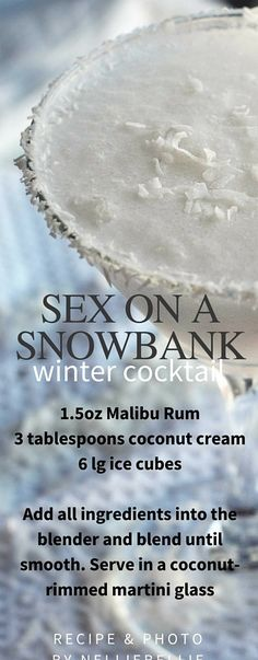 The cocktail that is blowing up the internet...for good reason. This Sex on a Snowbank cocktail is so easy to make and utterly delicious! Full of coconut flavor!