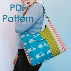 Mabel Messenger Bag PDF Sewing Pattern This is a great afternoon sewing project that will leave you smiling with it's quick professional results.