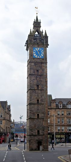 The 17th century Tolbooth Steeple Clock Tower in Glasgow in Scotland, north-west of UK