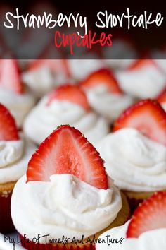 ***These cupcakes where amazing.  The ones that I baked for 18 minutes turned out better.  20 minutes seemed a little too long.  I just cut up fresh strawberries instead of putting them in the center.