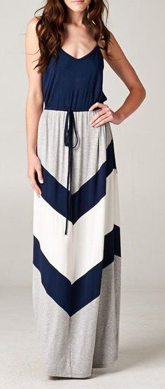 Chevron Audrey Dress